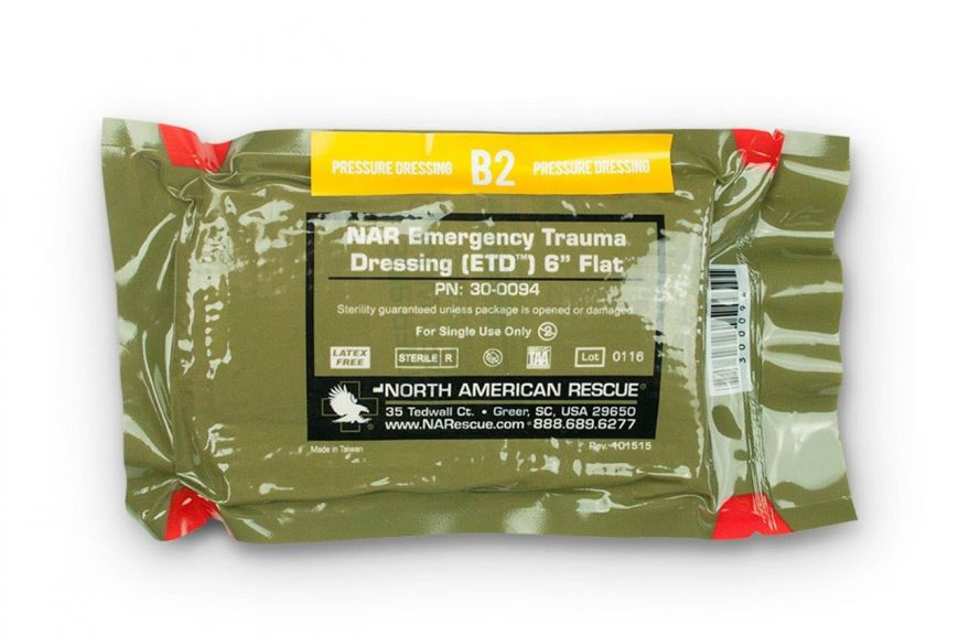 MOBILIZE RESCUE SYSTEMS REFILL, ITEM B2, PRESSURE DRESSING 6
