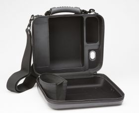 AED PRO MOLDED VINYL CARRY CASE WITH SPARE BATTERY COMPARTMENT-OPEN