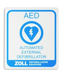 AED Window/Wall Decal
