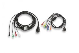 1-Step Patient Cable for 12-Lead ECG with Limb-Lead and V-Lead Cables(10 Ft)
