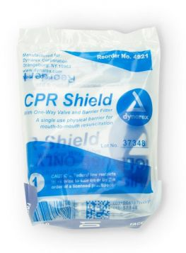 CPR face shield with bite block